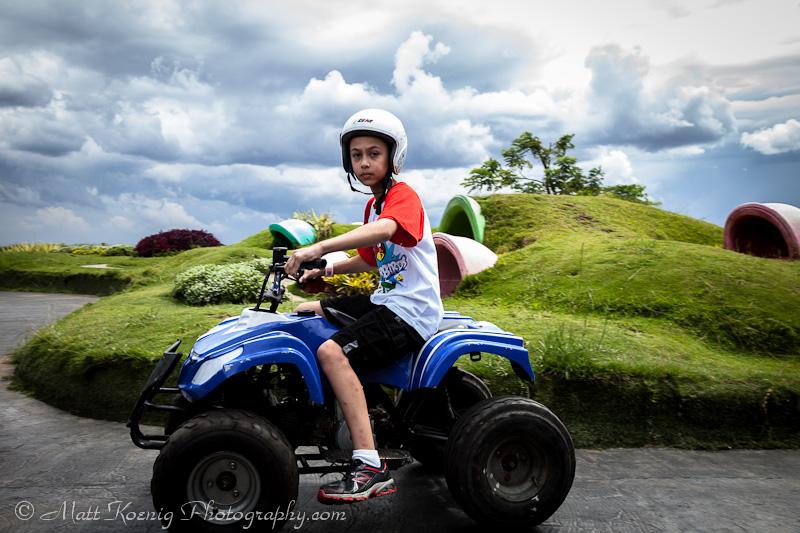 Me on an ATV at Kampung Gajah