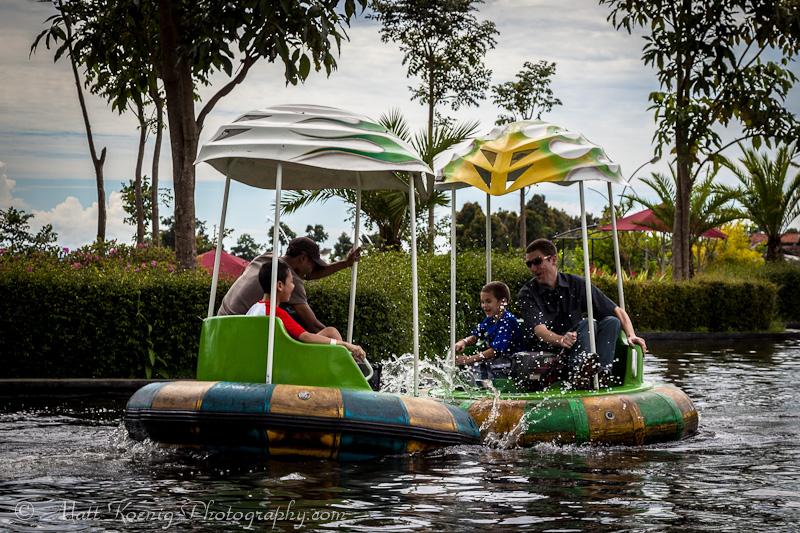 Bumper Boats at Kampung Gajah