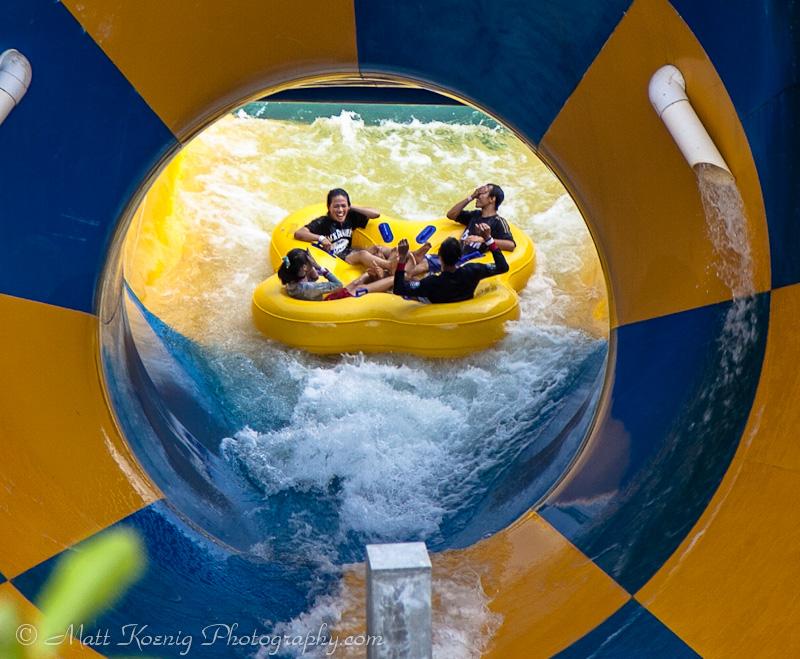 The Tornado Water Ride at Kampung Gajah